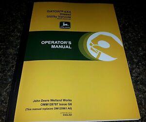 new john deere gator 6x4 diesel utility vehicle operators manual ebay rh ebay com john deere gator operators manual free john deere gator operating manual