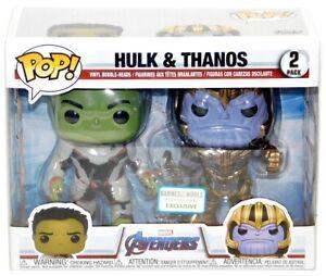 Details about Funko Pop Marvel Avengers End Game Barnes Noble Hulk Thanos 2  Pack Figure Set!