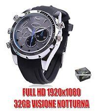 OROLOGIO SPIA 32GB SILICONE FULL HD INFRAROSSO VISIONE NOTTURNA SPY CAM CW134