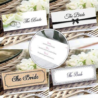 2019 Ultimo Disegno Personalizzato Matrimonio Segnaposto * Nome Carte * Coperti * Placecards-