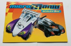 CATALOGUE-SCALEXTRIC-MICRO-MANIA-MICRO-CARS