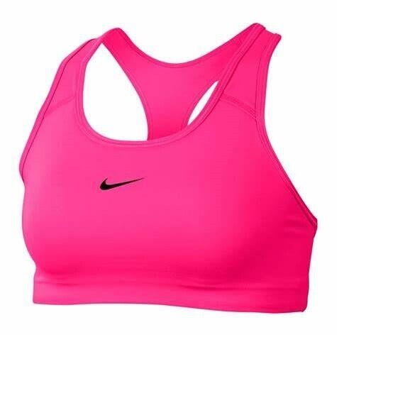 Nike Swoosh Bra Women's Dri-Fit Medium Support Sports Running PINK BV3636-693 XS