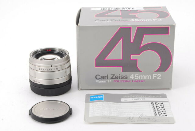 [TOP MINT] Carl Zeiss Planar T* 45mm F2 for CONTAX G Mount w/ BOX and Caps