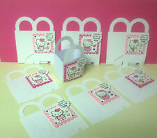 8 HELLO KITTY Personalized  boxes birthday party favors goody bags