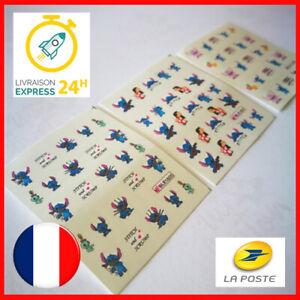 Nail-Art-Disney-Lilo-et-Stitch-Sticker-Ongles-Autocollant-Eau
