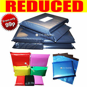 Strong-Grey-Coloured-Plastic-Mailing-Post-Poly-Postage-Bags-Self-Seal-PROMAX