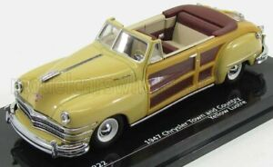 VITESSE 1/43 CHRYSLER   TOWN AND COUNTRY CABRIOLET OPEN 1947   BEIGE WOOD