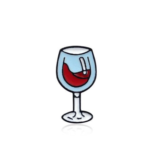 Botella de regalo de los amantes del vino de moda y Vidrio Esmalte Pin Pin broche nuevo LH