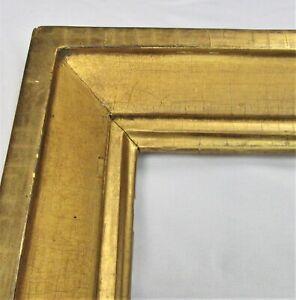 ANTIQUE-FITS-12-034-X-14-034-LEMON-GOLD-GILT-DISTRESSED-WOOD-VICTORIAN-PICTURE-FRAME