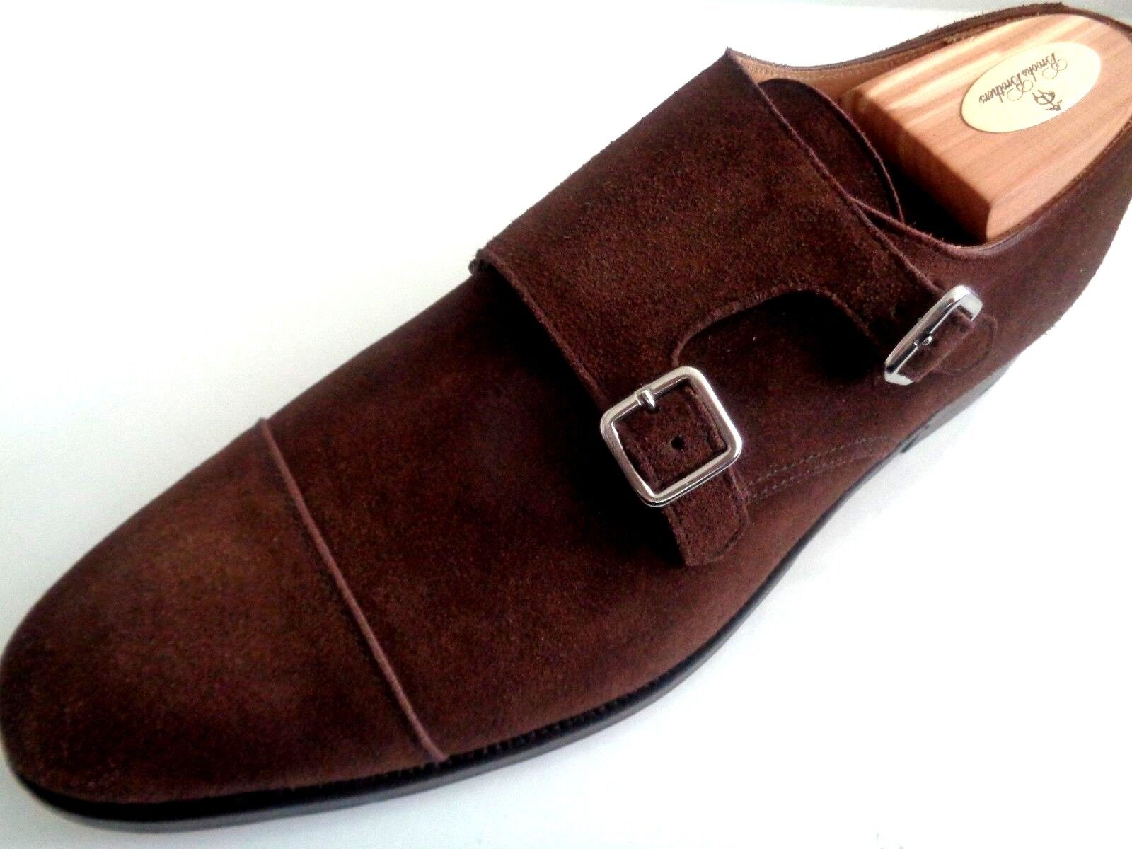 NIB CROCKETT AND JONES FOR PEAL & CO SUEDE SHOES. HAND MADE IN ENGLAND.