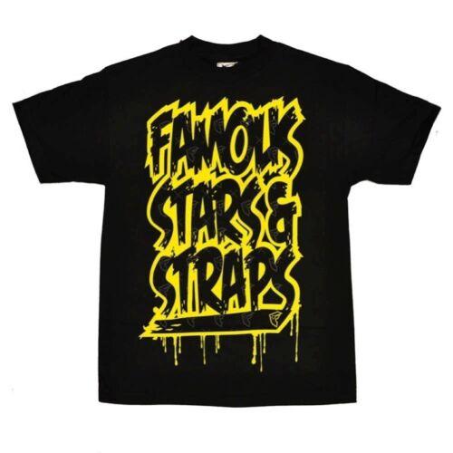 FAMOUS STARS /& STRAPS QUICK HIT T SHIRT BLACK