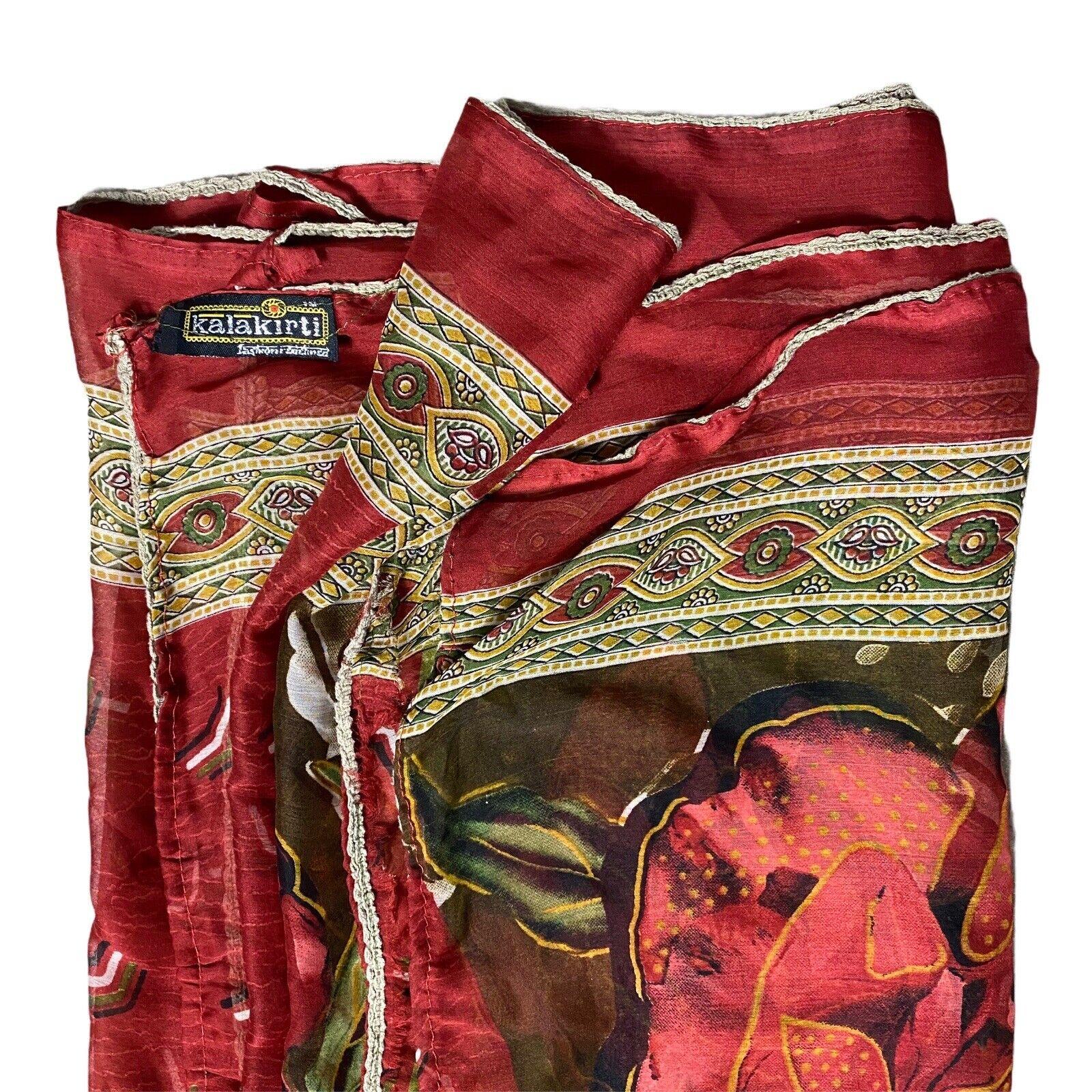Vintage 80s 90s Overdize Floral Scarf Wrap Skirt … - image 7