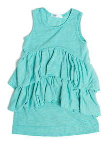 3 Pommes Navy Jersey Girls Dress Ruffled Tank Style Racer Back Sizes 2-12 NWT