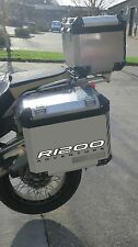 WHITE REFLECTIVE ALLOY PANNIER STICKERS BMW R1200GS ADVENTURE GRAPHIC DECALS BAG