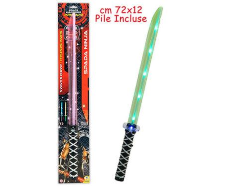 Spada Ninja Con Luce E Suoni 3 Colori Teorema Merchandising Ufficiale