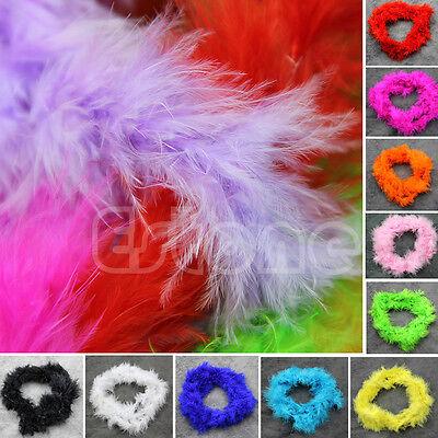 Various Colours 2M Marabou Feather Boa For Burlesque Boas Fancy Dress Party Hot