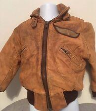 Boys Age 6 - 7 Years Vintage Style Flying Dakota Aviator Bomber Jacket PVC