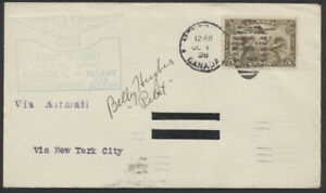 1928 AAMC #2847 Montreal - Albany First Flight, Signed by Pilot Billy Hughes