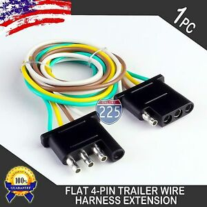 Details about 12ft Trailer Light Wiring Harness Extension 4-Pin 18 on