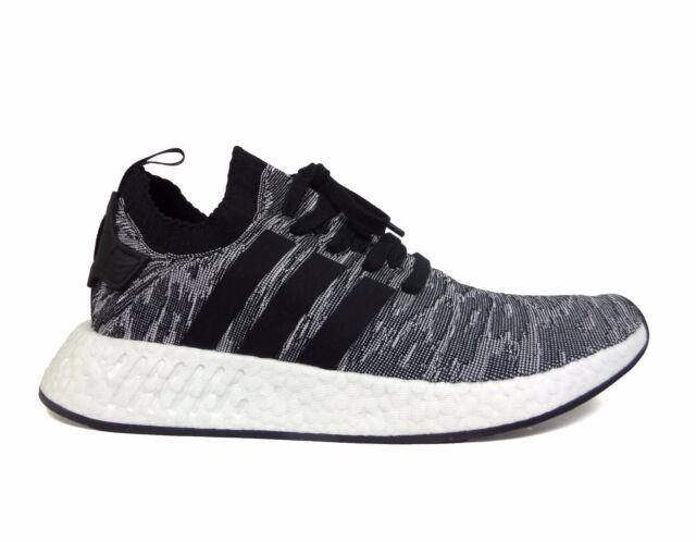 af4641b19f2c2 Adidas Men s ORIGINALS NMD R2 PRIMEKNIT Running Shoes Core Black White  BY9409 b