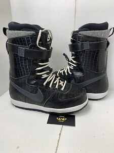 Nike-Zoom-Force-1-ZF1-Snowboard-Boots-334841-007-Sz-9-Black-White-SBB