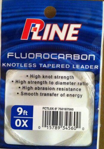 100/% FLUOROCARBONE 9/' 0X Tapered Leader P-Line Noeuds ligne Mouche conique-Japon