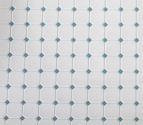 NICE 1:12 Scale Blue /& White Diamond Patterned Dollhouse Tile Flooring #FF60650B