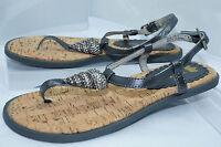 Juicy Couture Women's Shoes Size 6 Flats Sandals Finny Thongs Metallic NIB