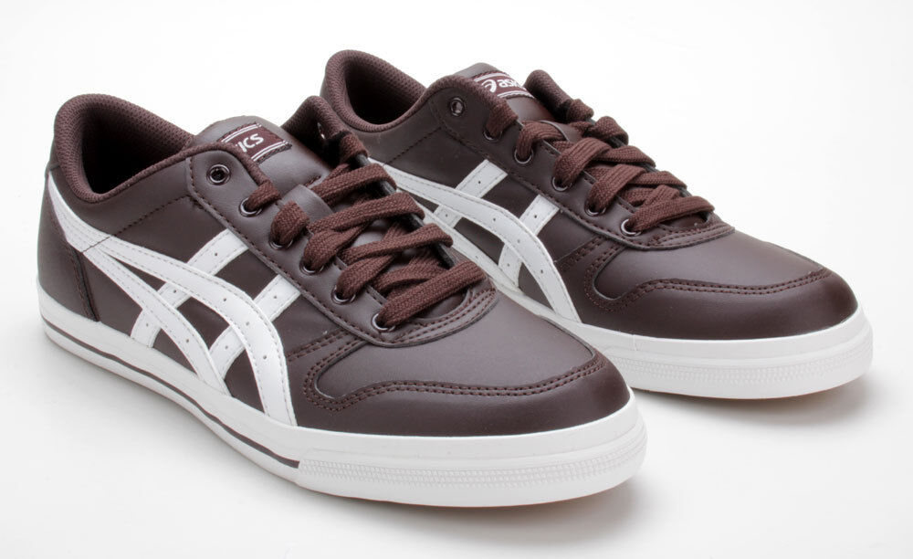 Asics Schuhe Brown/White Aaron H934Y 2801 Dark Brown/White Schuhe 76e3f1