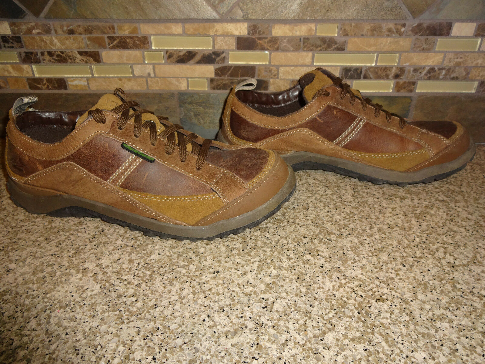 Mens Nunn Bush Sz 8M Brown Leather All Terrain Comfort Gel Casual Lace-up Shoes