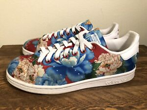 Details about Adidas Stan Smith Womens 7.5 Originals X Farm Chota Floral Shoes Sneakers BB5158