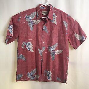 Cooke-Street-Honolulu-size-Large-Reverse-Print-Aloha-Hawaiian-Shirt-Washed-Red