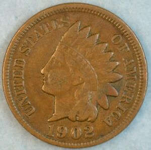 1902-Indian-Head-Cent-Vintage-Penny-Old-US-Coin-Liberty-Full-Rims-Fast-S-amp-H-512