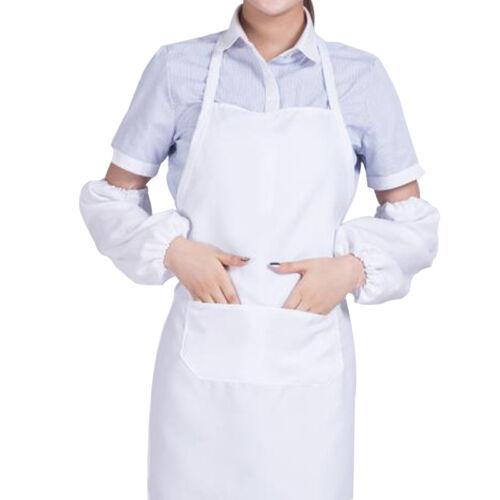Weiß Kochschürze Schürze Latzschürze Grillschürze Gastronomie Arbeitsschürz V8V1