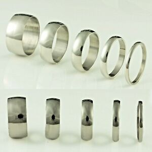2-4-6-8-10mm-Stainless-Steel-Mens-Womens-Wedding-Band-Silver-Ring-J-to-Z-2
