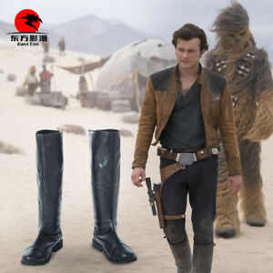 A Star Wars Story Han Solo Boots Shoes Cosplay Costume Halloween Christmas  NN.1