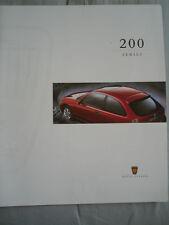 Rover 200 Series range brochure 1996 Prestige
