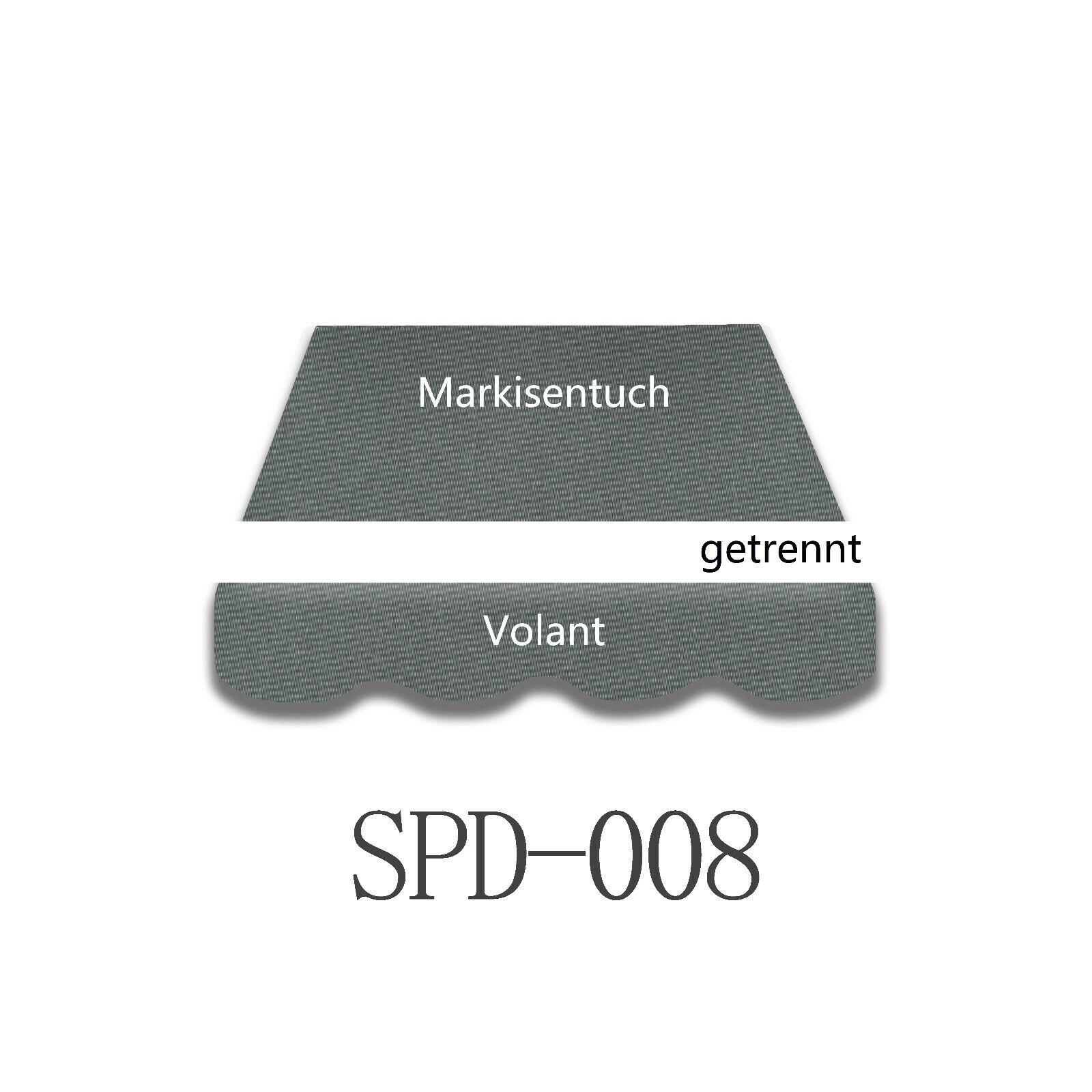 4x3m markisenstoff markisentuch UV resistente al agua sin volant listo cosidos