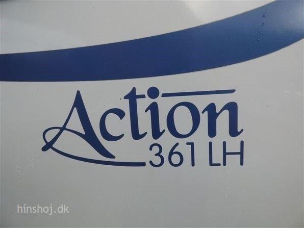 Adria Action 361 LH, 2009, kg egenvægt 800