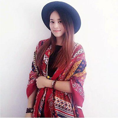 Fashion Women Large Pashmina Scarves Vintage Paisley Long Stole Shawl Wrap Scarf