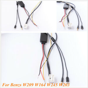 Bluetooth-Adapter-Stereo-Charge-AUX-Cable-For-Mercedes-Benz-W209-W164-W245-W203