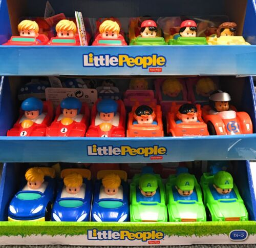 New Fisher Price Little People Wheelies Mixed Lot of 10 Assorted Cars