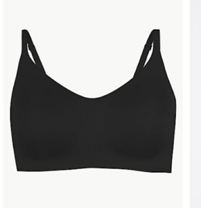Brand New Ex M/&S Flexifit Non-Padded Full Cup Bra Black Sizes 34-42 A-DD