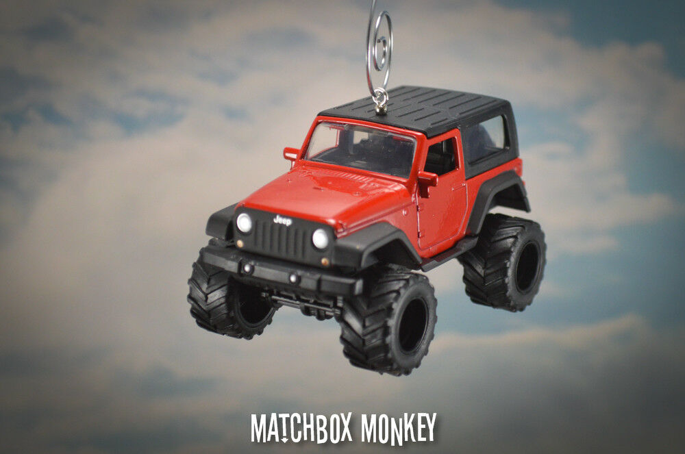 2014 rot Lifted Jeep Wrangler Rubicon X Hard Top Christmas Ornament Unlimited