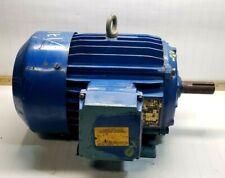 Elektrim 2 Hp Ac Electric Motor 230460 Vac 184t Frame 3 Phase Tefc Enclosure