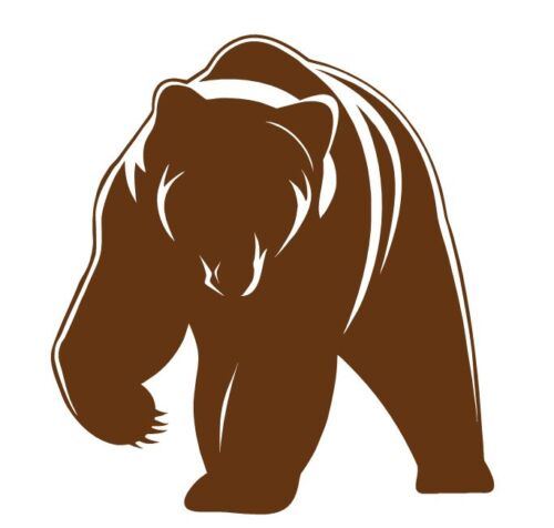 Vinyl Sticker Custom Made to Order Decal Grizzly Bear 707