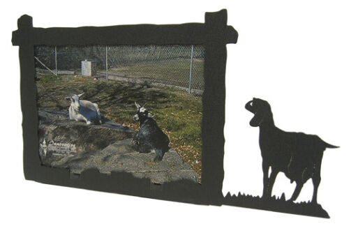Nubian Goat black metal 5x7H picture frame