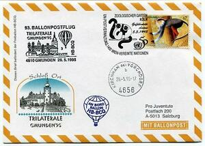 Objectif 1995 Ballonpost N. 93 Pro Juventute Hb-bcq Gmunden Trilaterale Kirkham Onu Zoo Moins Cher