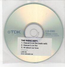 (DQ558) The Radio Department, Heaven's On Fire - DJ CD