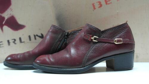 Schuhe Halbschuhe Salamander True Uk 70er Vintage 41 Blockabsatz Leder Herren 7 5qx6Y71x